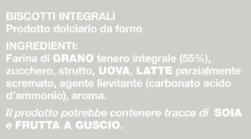 froletti integrali ingredienti