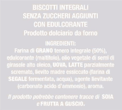 froletti integrali s-z ingredienti